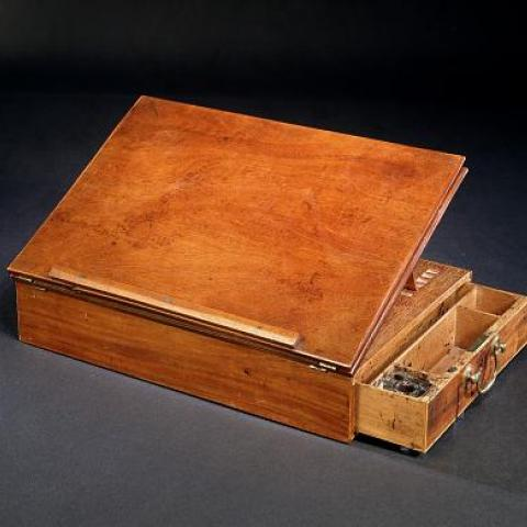 Jefferson's small wooden desk