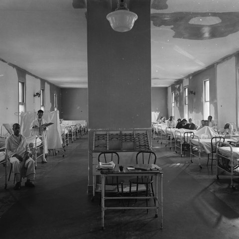 Room with medical staff and patients in Freedmen's Hospital