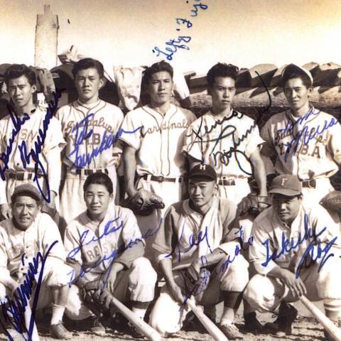 Baseball players group photo