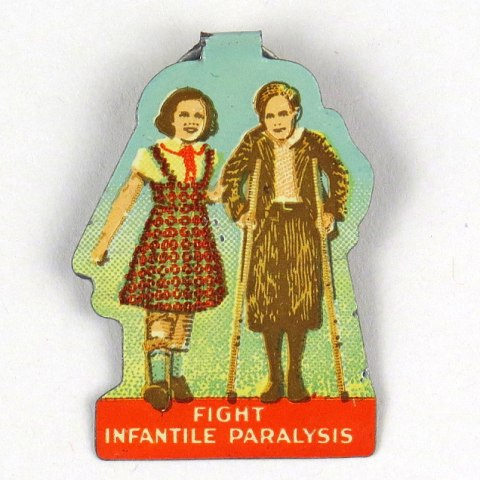 """Fight Infantile Paralysis"" metal button"
