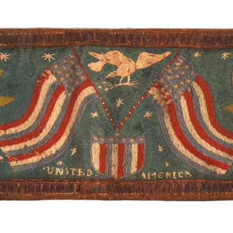 Boxing belt with Irish and American symbols