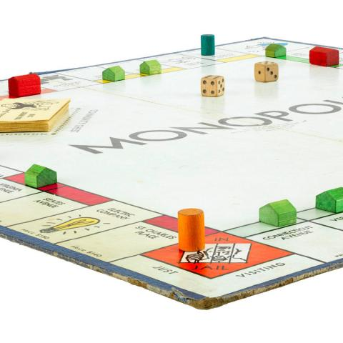 Photograph of Monopoly board game, 1940s