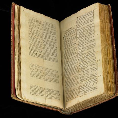 Jefferson's Bible, open