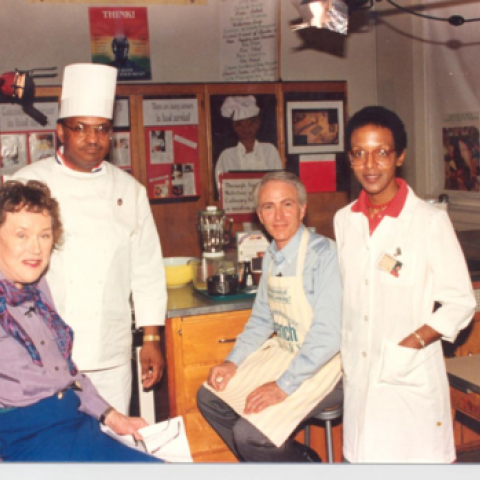 A group of chefs in the kitchen