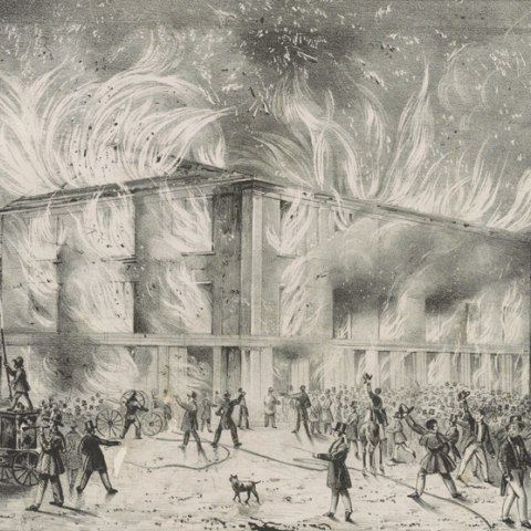 Destruction by fire of Pennsylvania Hall