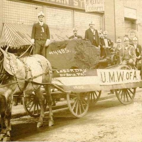 Horse-drawn wagon