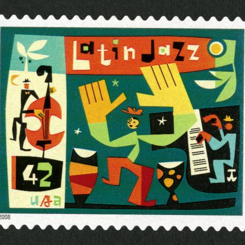 Latin Jazz postage stamp