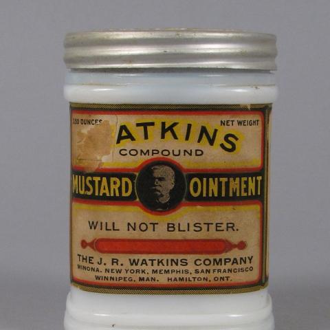 Atkins Mustard Ointment jar