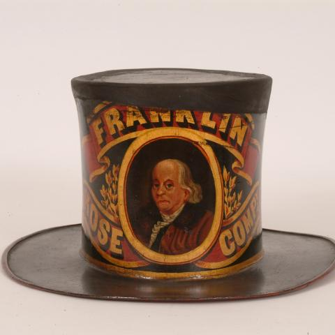 Hat with portrait of Benjamin Franklin