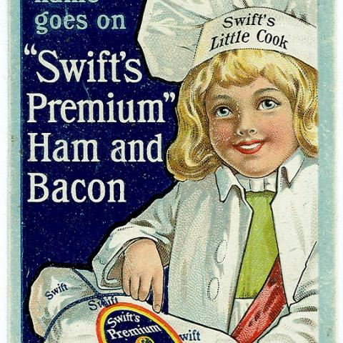 Ad of Swift's ham and bacon
