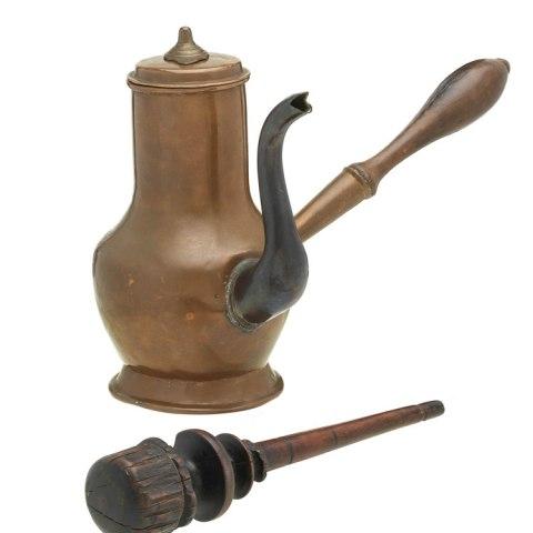 Copper chocolate pot, 1740s–1760s