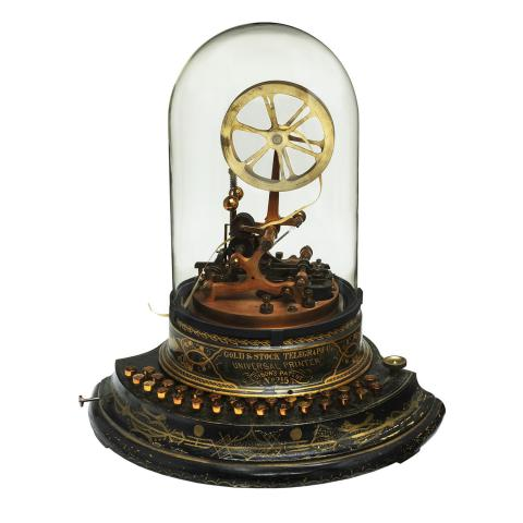 Thomas Edison's patent model for improvements to a stock ticker