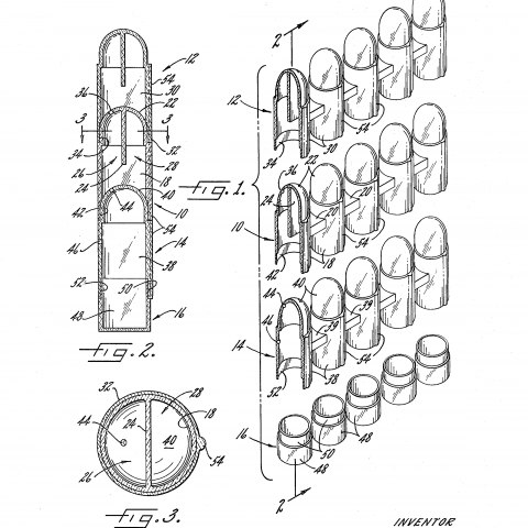 Patent with black and white illustration