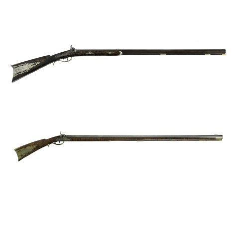 Photo of two rifles