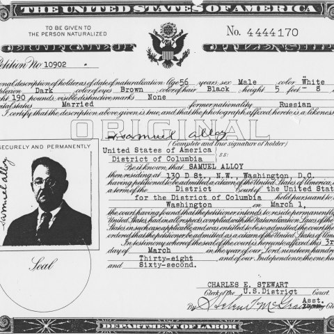 Scan of citizenship document