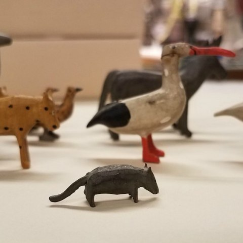 Small carved wooden animals