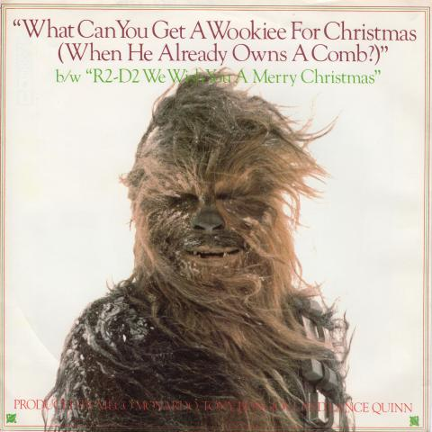 Photo of a record album with Chewbacca in the snow