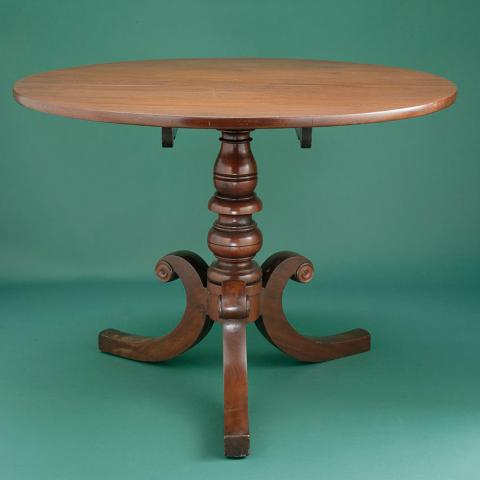 Photo of round, wooden table