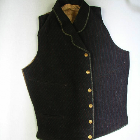 Vest with gold buttons