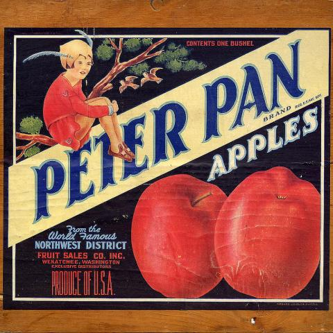 Peter Pan brand by the Northwest District Fruit Sales Company Inc. of Wenatchee, Washington
