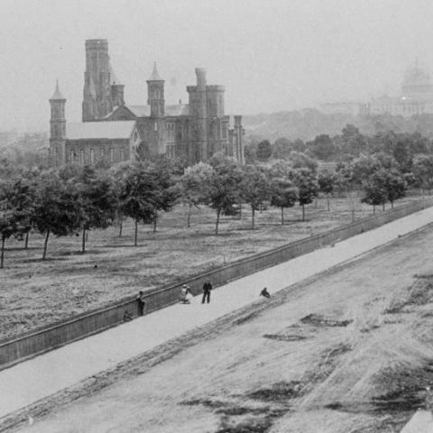 View of Smithsonian Castle, 1863