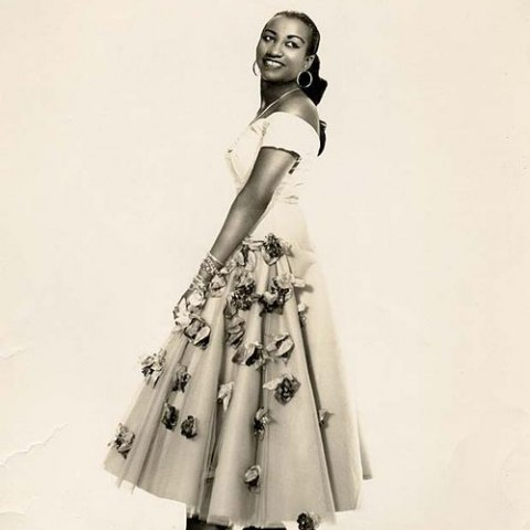 A photograph of Celia Cruz taken in the 1950's