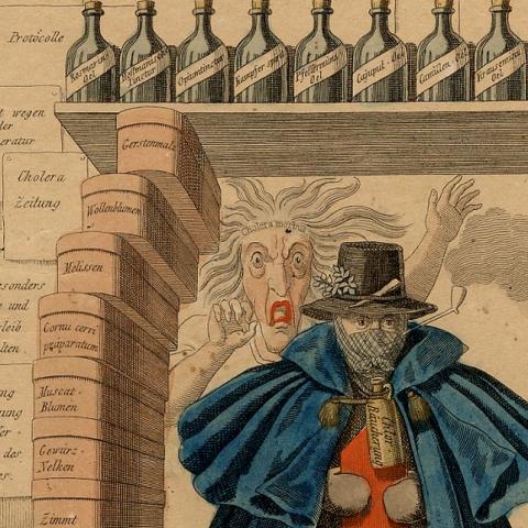 Detail image of cholera man