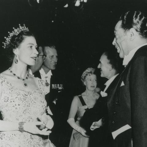 Queen Elizabeth II meets Duke Ellington