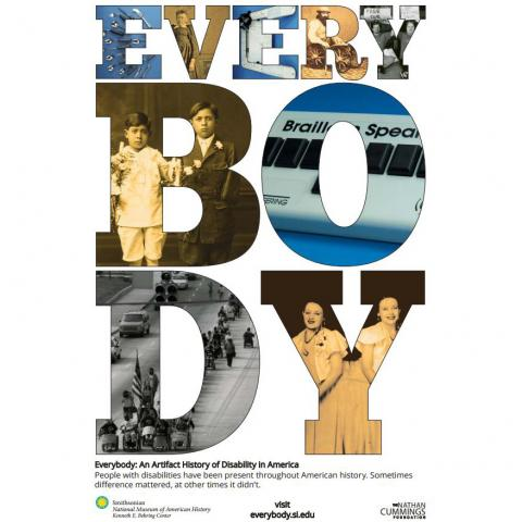 Everybody poster with images in each letter