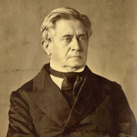 Portrait of Joseph Henry in suit