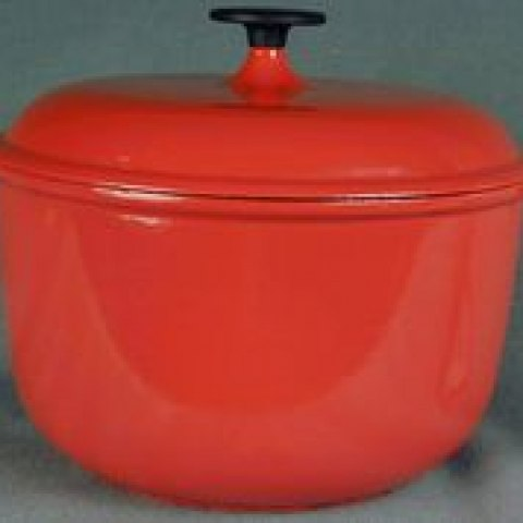 A casserole dish used by Julia Child