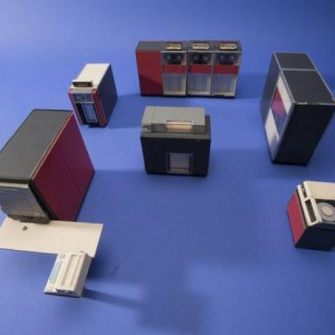 Salesman's model of an IBM 360 computer.