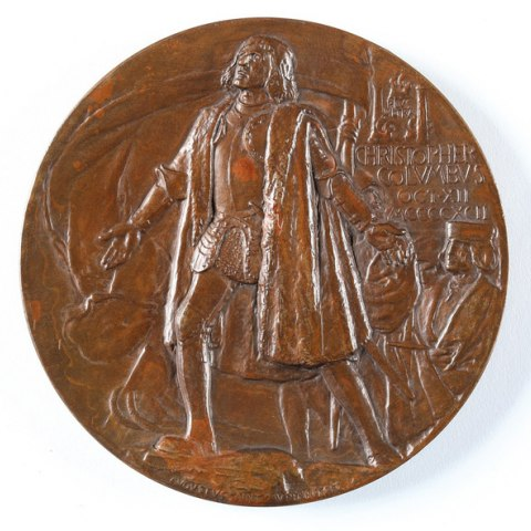 Medal with Christopher Columbus