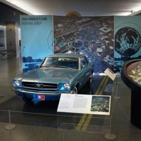 Mustang on display