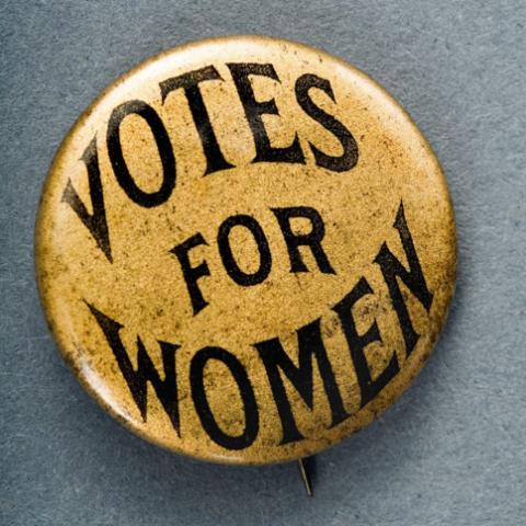 Votes for Women button