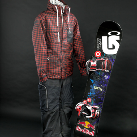 Sean White clothing and snowboard