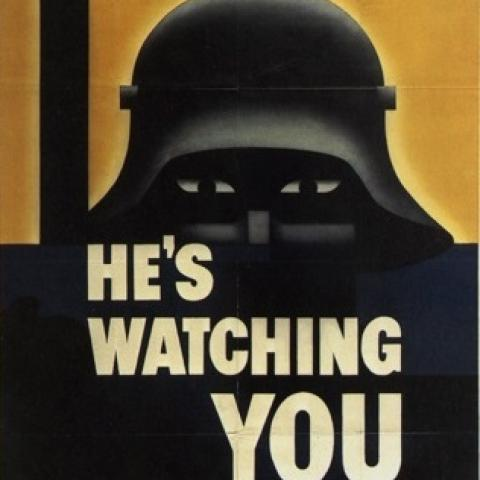 He's watching you Darth helmet