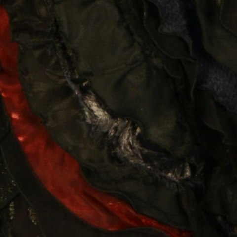 Close up of Elphaba dress from Wicked