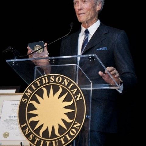 Clint Eastwood presenting
