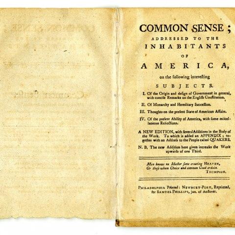 "Pamphlet, ""Common Sense"", 1776"