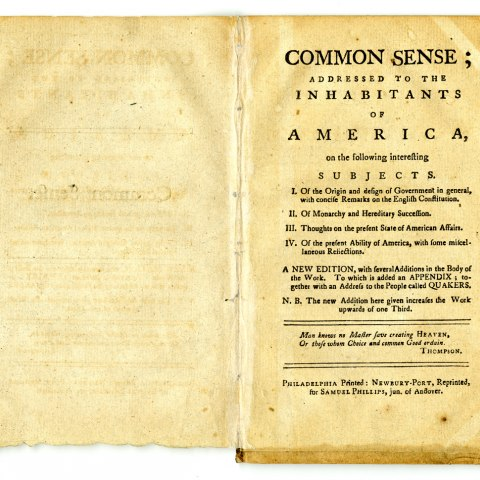 "Pamphlet, ""Common Sense"", 1776"