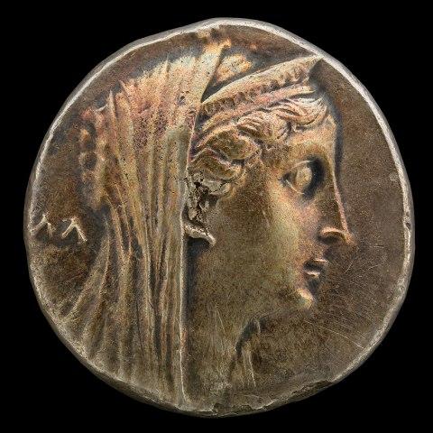 Queen Arsinoe II, Decadrachm Coin, Egypt, 3rd Century BCE