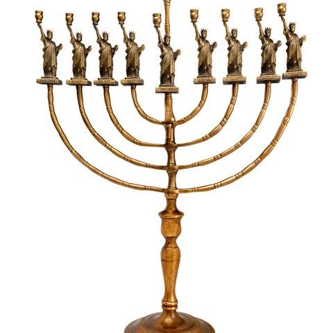 Statue of Liberty Hanukkah Menorah