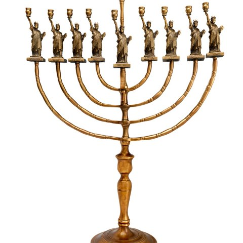 Statue of Liberty Hanukkah Menorah