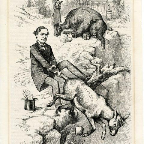 "Cartoon, ""Stranger Things Have Happened"", 1879"