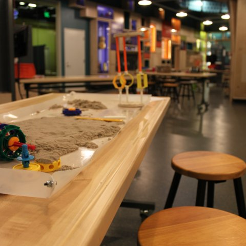 Tables in museum's Spark!Lab