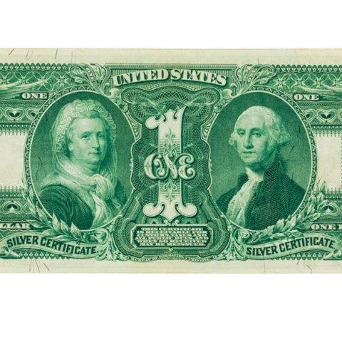 Martha Washington with President George Washington, 1 Dollar Silver Certificate, United States of America, 1896