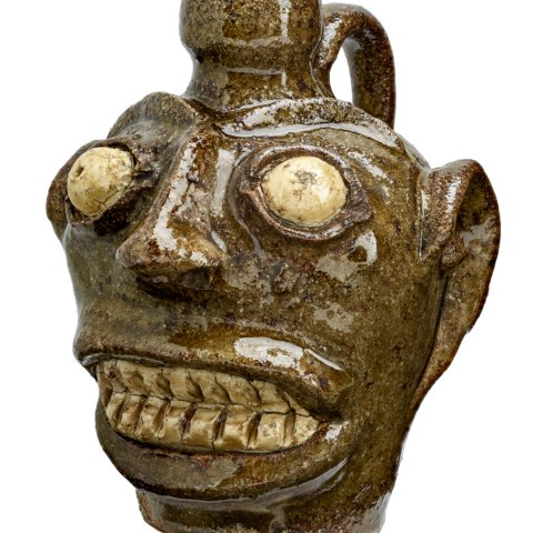 Face Vessel, African American, 1850s