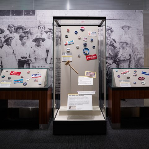 "Exhibition section, ""100 Years, 100 Women"""