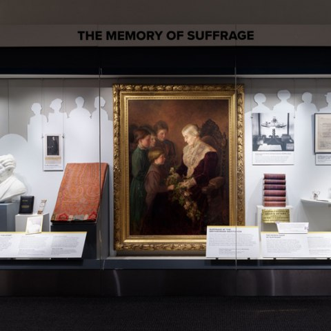 "Exhibition section, ""Memory of Suffrage"""